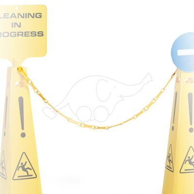 Plastic chain 1m for wet floor sign 66001, yellow