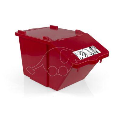Plastic dust bin Split 45lt red