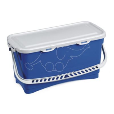 Bucket hermetic 20L  with handle and lid, blue