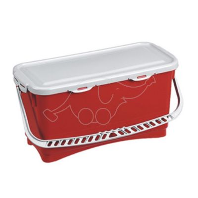 Bucket hermetic 20L with handle and  lid, red