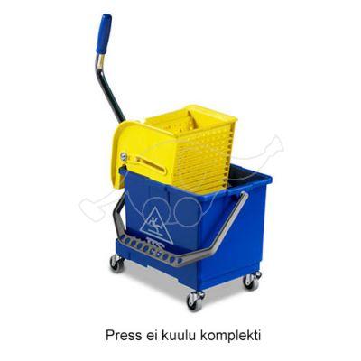 Mini bucket 17L with 4 wheels