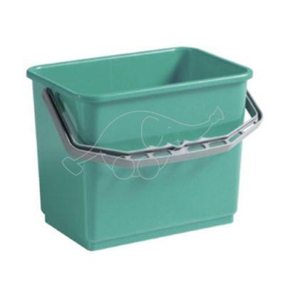 Plastic bucket 4L green
