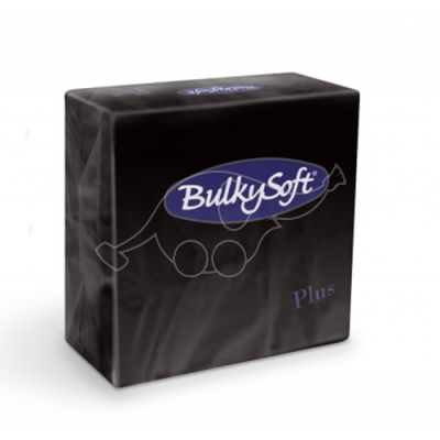 BulkySoft salvrätik 38x38 Plus 2-kih. must1440tk/kastis