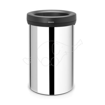 Brabantia Open Top Bin 60L brilliant steel