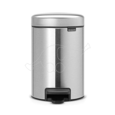 Brabantia waste bin 3L Newicon, matt steel fingerprint proof