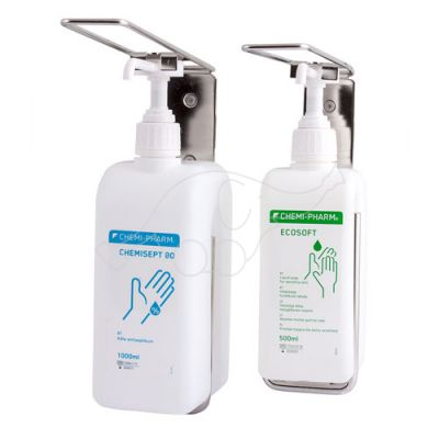 Wall mount for 1L bottle with arm stainless steel Chemi-Phar