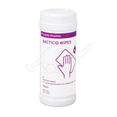 Bacticid Wipes desinf. rätikud pindadele, 100tk purgis Chemi