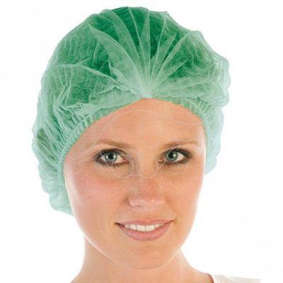 Müts kummiga ühekordne  100tk/karp  roheline