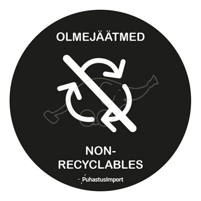 Waste sorting label, OLMEJÄÄTMED, black