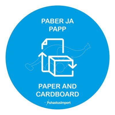 Waste sorting label, PABER JA PAPP, blue