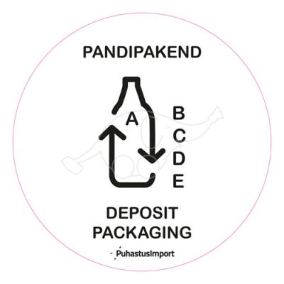 Waste sorting label, PANDIPAKEND, white