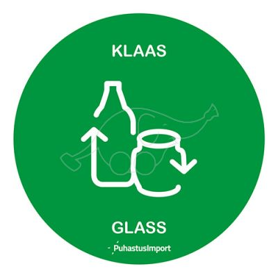 WASTE SORTING LABEL, KLAAS, green