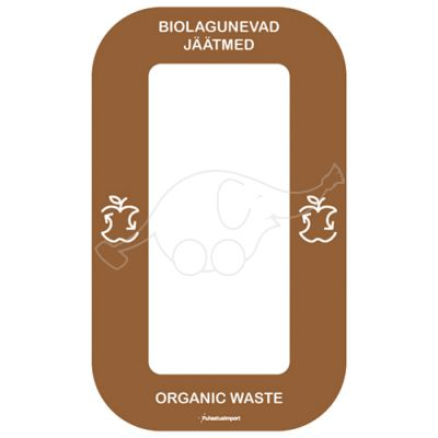Waste sorting label Bin Multi BIOJÄÄTMED, brown