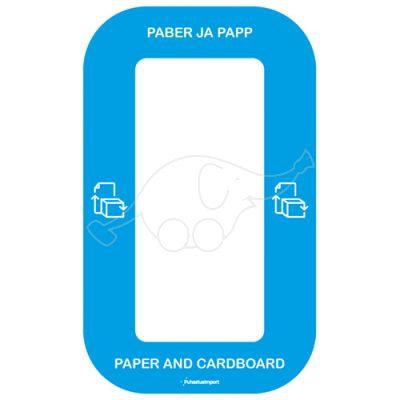 Waste sorting label Bin Multi PABER JA PAPP, blue
