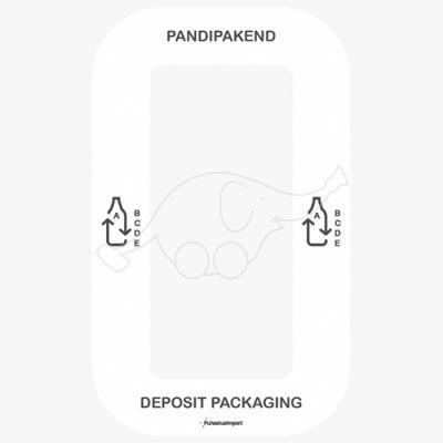 Waste sorting label Bin Multi PANDIPAKEND, white