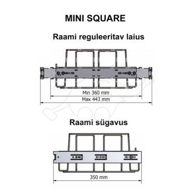 Longopac Flex Mini Square W360xD350mm