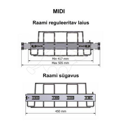 Longopac Flex Midi 417x450mm prügikotiraam