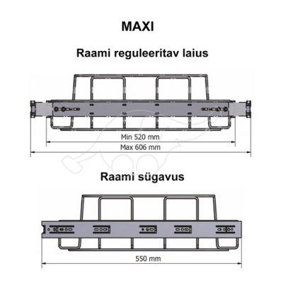 Longopac Flex Maxi 520x550 prügikotiraam