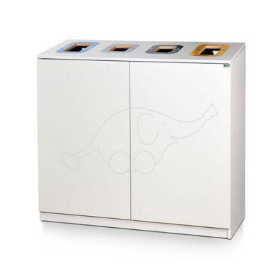 Longopac Bin Multi 4 osaline sorteerimisjaam, valge