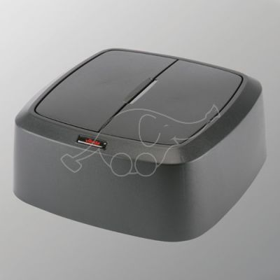 Vileda swing lid for 60L Iris trash bin, squere, black