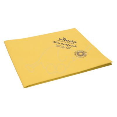 Vileda MicronQuick microfibre cloth yellow 40x38cm