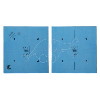 Vileda MicronQuick microfibre cloth blue 40x38cm printed