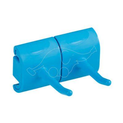 Vikan Hi-Flex varrehoidja seinale, 2-konksuga moodul, sinine