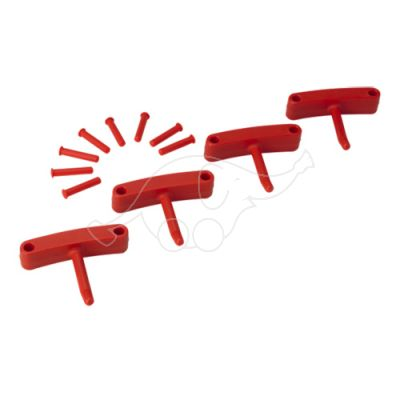 Hook x 4 for 1017 and 1018 red R:V1012x