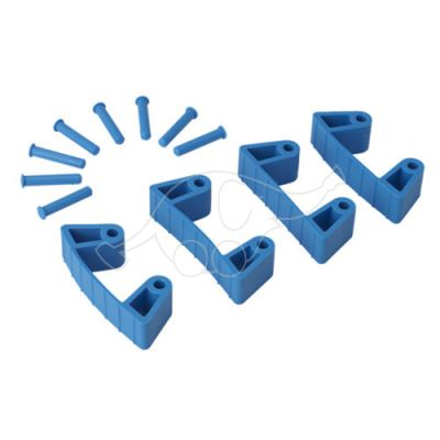Vikan Rubber Clip x 4 for 1017 and 1018, 120 mm blue