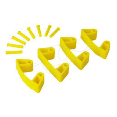 Vikan Rubber Clip x 4 for 1017 and 1018, 120 mm yellow