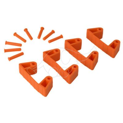 Vikan Rubber Clip x 4 for 1017 and 1018, 120 mm orange