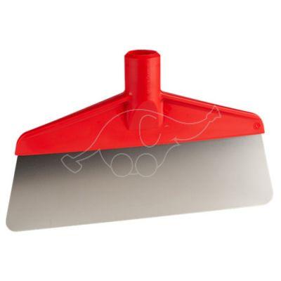 Scraper w/flexible steelblade 260mm red