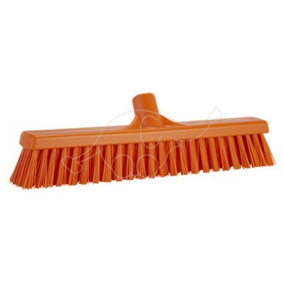 Soft/Stiff floor broom 410mm orange