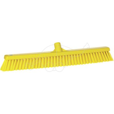 Soft/stiff floor broom 610mm yellow