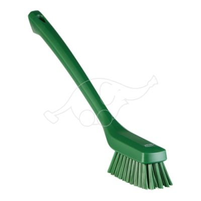 Vikan Narrow Cleaning Brush Long Handle, 420 mm, Hard, green