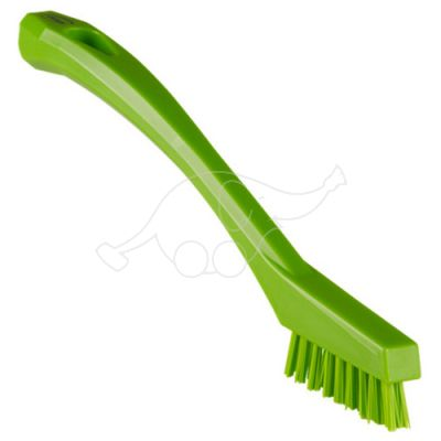 Vikan detail brush 205mm very hard, lime