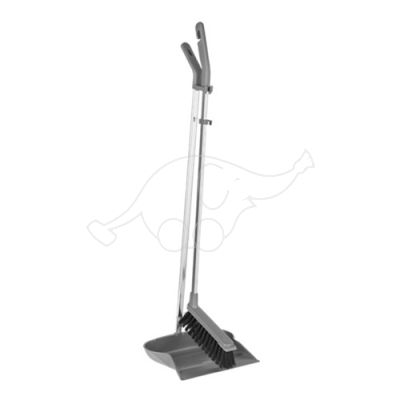 Vikan longhandled brush/dustpan set, 985 mm, plastic grey
