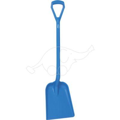 Vikan shovel D grip 1040mm, blade 271 mm, blue