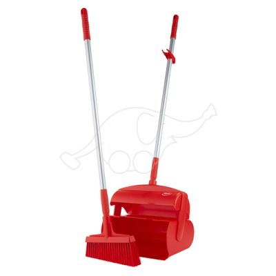 Vikan Dustpan set, closeable with broom, 370 mm, red
