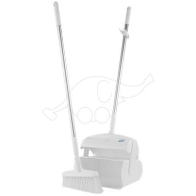 Vikan Dustpan set, closeable with broom, 370 mm, white