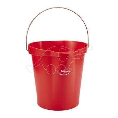 Vikan bucket 12L,  Red