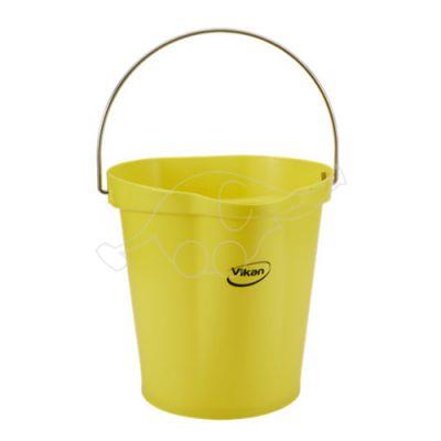 Vikan bucket 12L, yellow