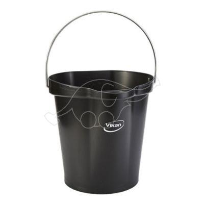 Vikan bucket 12L,  black