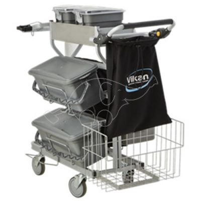 Cleaning Trolley Vikan Compact PLUS 40cm bucket, grey