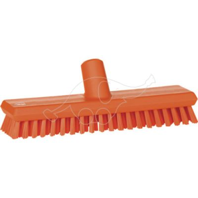 Deck scrub waterfed 275mm hard orange