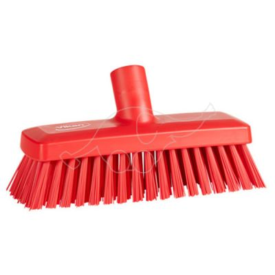 Compact Wall/Deck Scrub 225 mm, Hard, Red