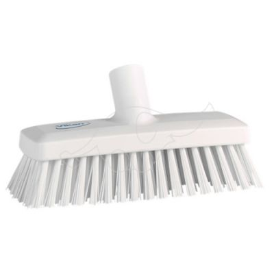 Compact Wall/deck scrub, 225mm, hard, white