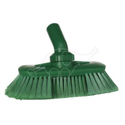 Angle adjustable brush w/waterchannel green