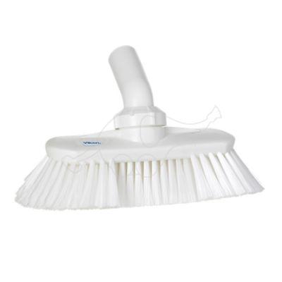 Angle adjustable brush w/waterchannel white