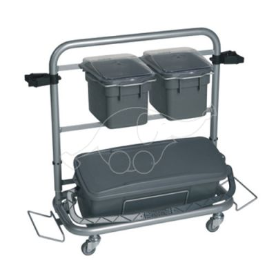 Cleaning trolley Vikan Slimliner 40cm bucket, grey
